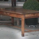 sold48 19c French fruitwood farmhouse table